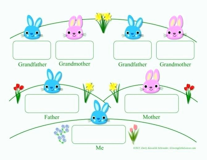 Children Family Tree Template Beautiful Medium to Size Fun Family Tree Template Growing