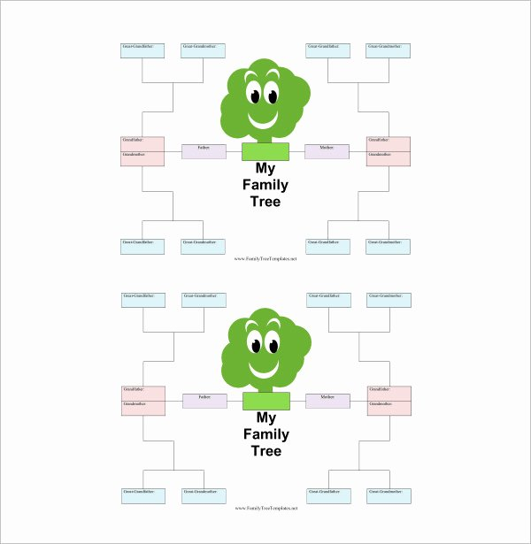 Children Family Tree Template Elegant 18 Family Tree Template for Kids Doc Excel Pdf
