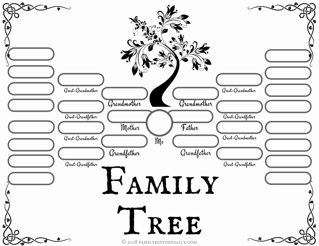 Children Family Tree Template Elegant 4 Free Family Tree Templates for Genealogy Craft or