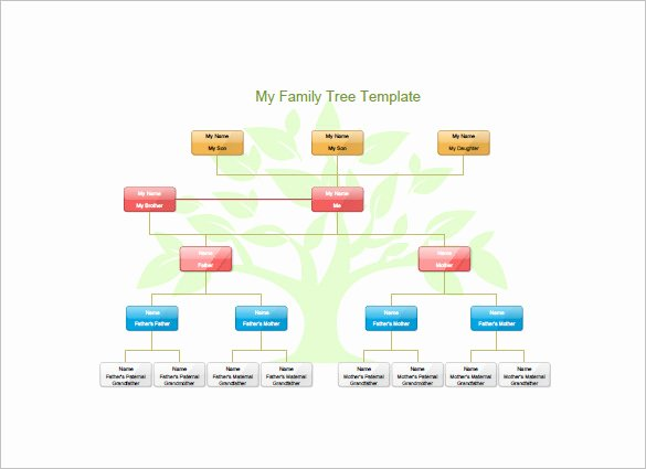 Children Family Tree Template Inspirational Kids Family Tree Template – 10 Free Sample Example