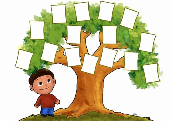 Children Family Tree Template Lovely 18 Family Tree Template for Kids Doc Excel Pdf