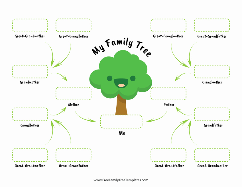 Children Family Tree Template Lovely Family Tree for Children – Free Family Tree Templates