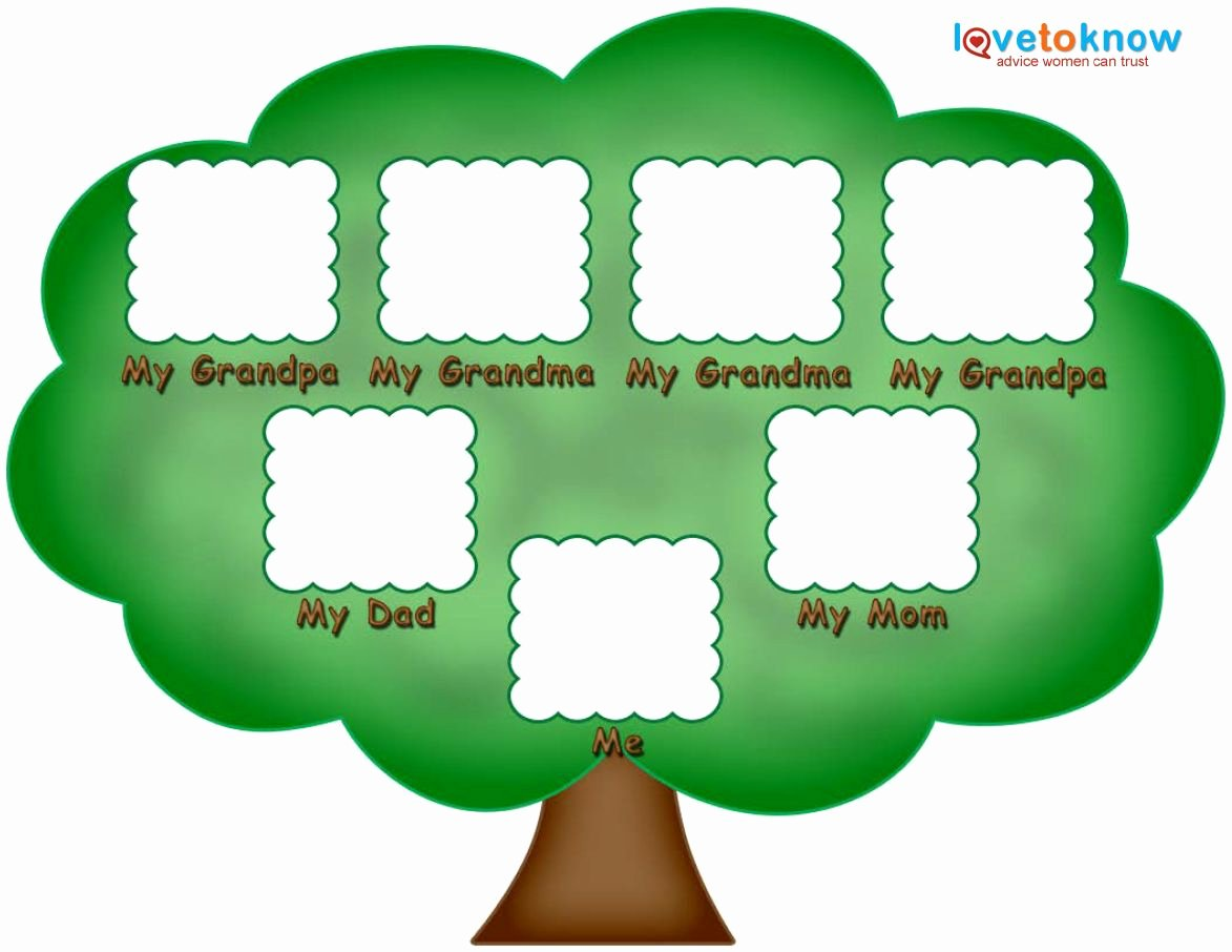 Children Family Tree Template Luxury Preschool Family Tree Family Tree Kids