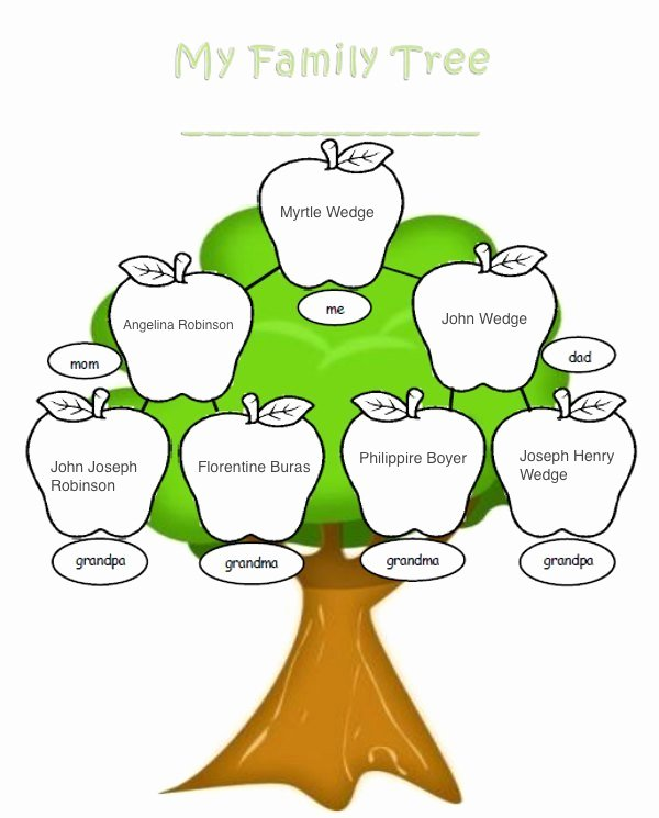 Children Family Tree Template New A Zest for Living