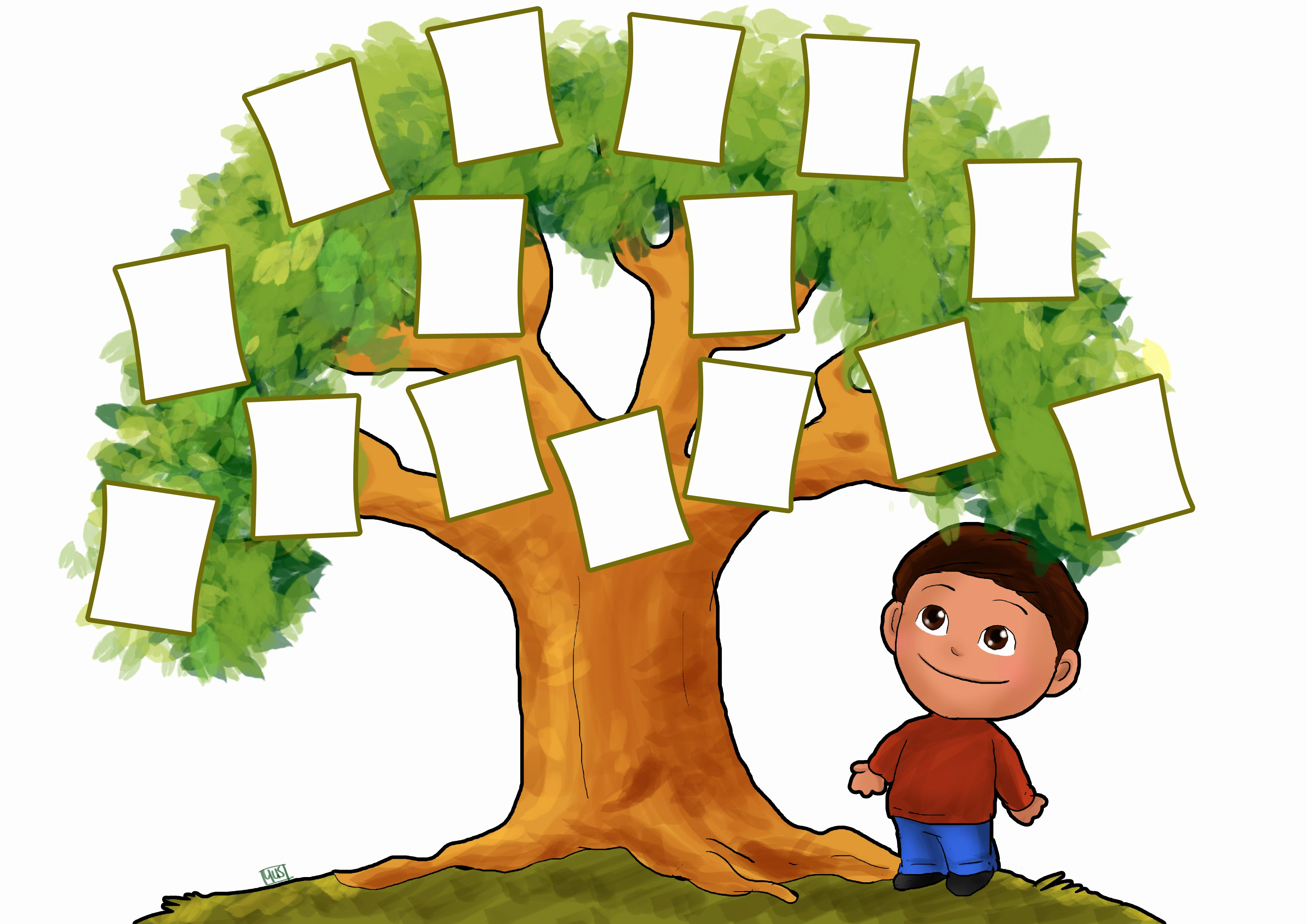 Children Family Tree Template New Blank Family Tree for Kids Clipart Best
