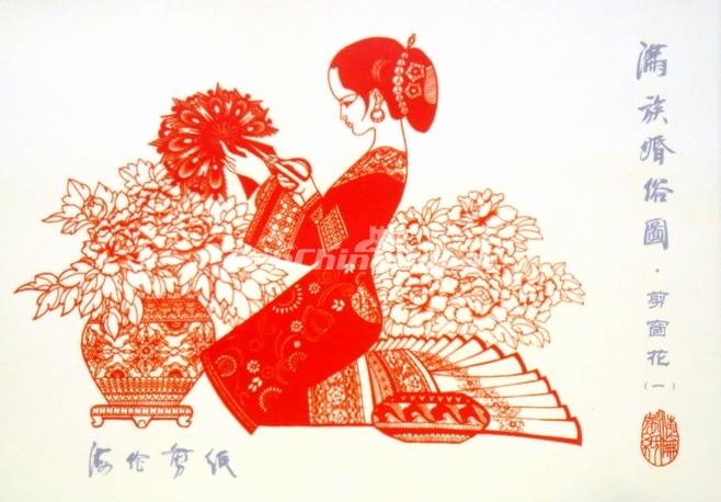 Chinese Paper Cutting Template Best Of Chinese Paper Cutting Girl Chinese Paper Cutting