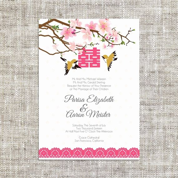 Chinese Wedding Invitations Template Awesome Diy Printable Editable Chinese Wedding Invitation Card