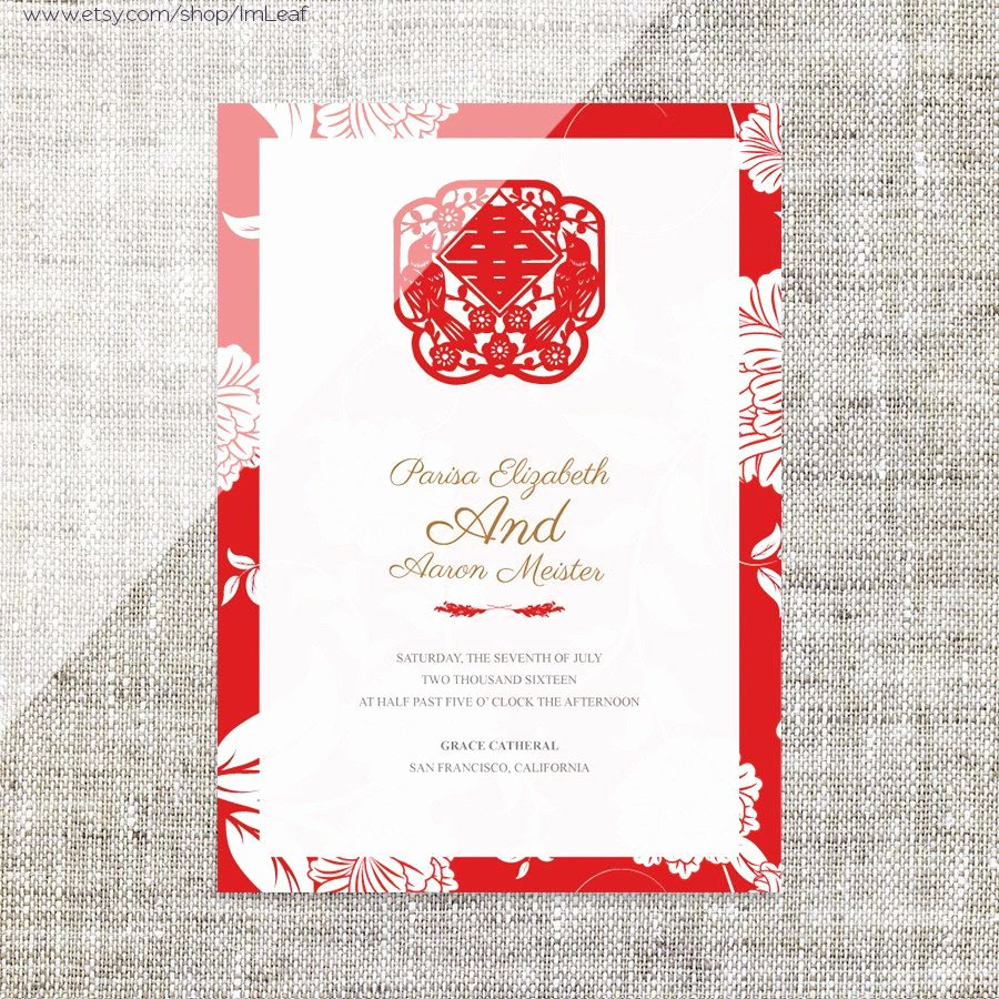 Chinese Wedding Invitations Template Beautiful Chinese Wedding Invitations original Blue Surprising
