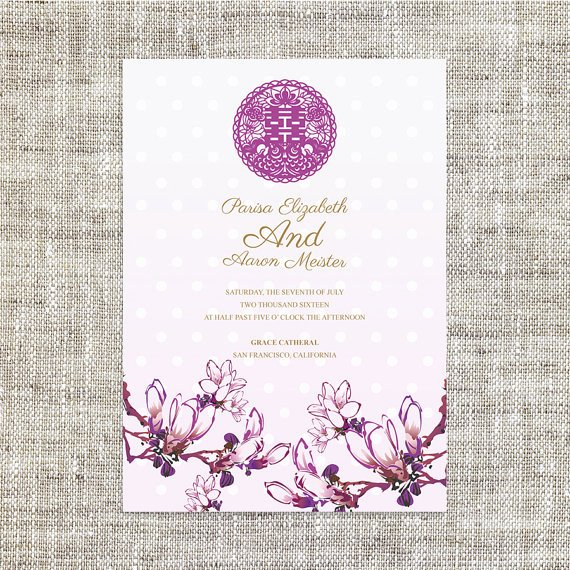 Chinese Wedding Invitations Template Best Of Diy Printable Chinese Wedding Invitation Card Template Instant
