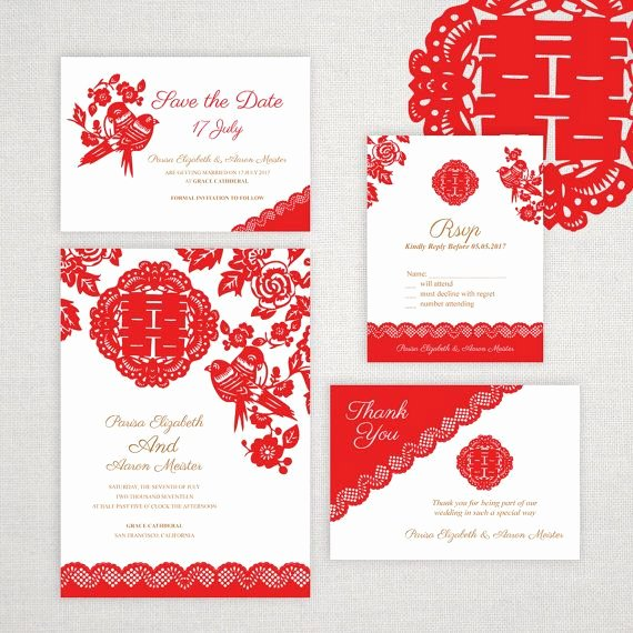 Chinese Wedding Invitations Template Elegant Diy Printable Editable Chinese Wedding Invitation Save