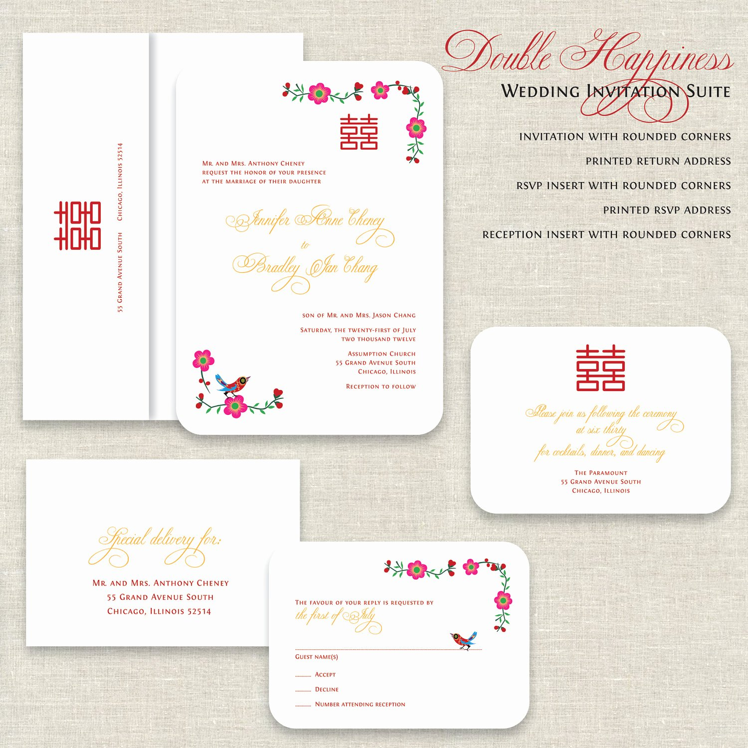 Chinese Wedding Invitations Template Lovely Chinese Wedding Invitation Chinese Wedding Invitation with