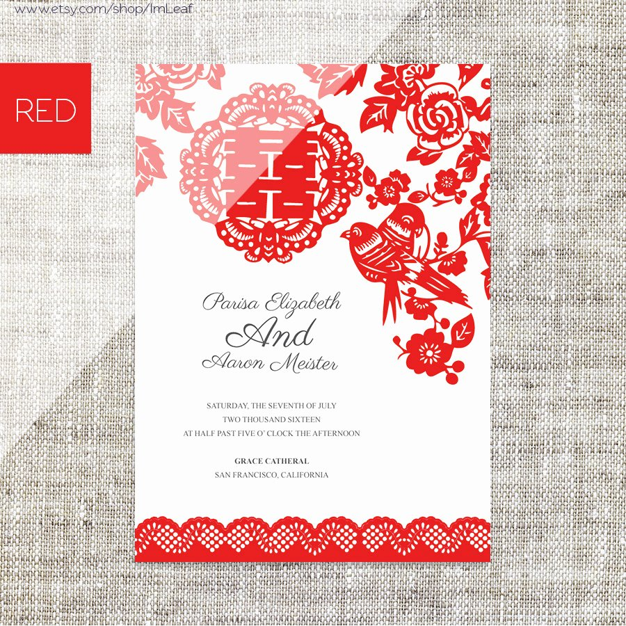 Chinese Wedding Invitations Template New Diy Printable Editable Chinese Wedding Invitation Rsvp Card