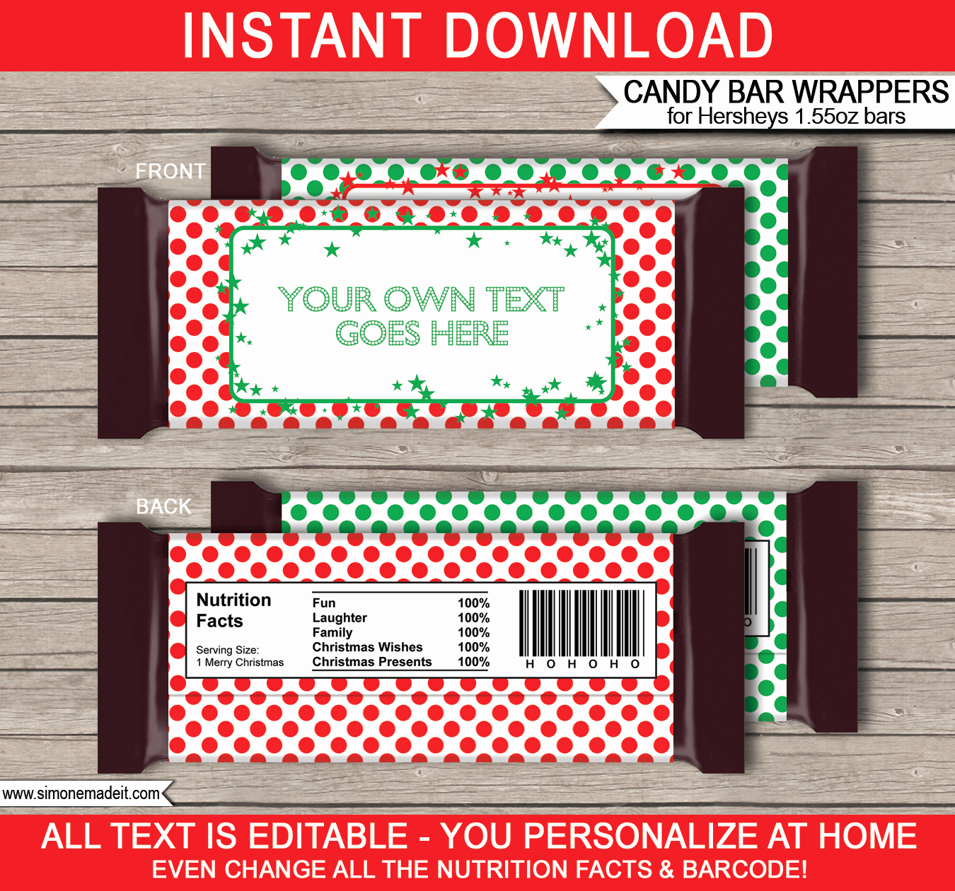 Chocolate Bar Wrappers Template Best Of Christmas Party Printables Invitations & Decorations