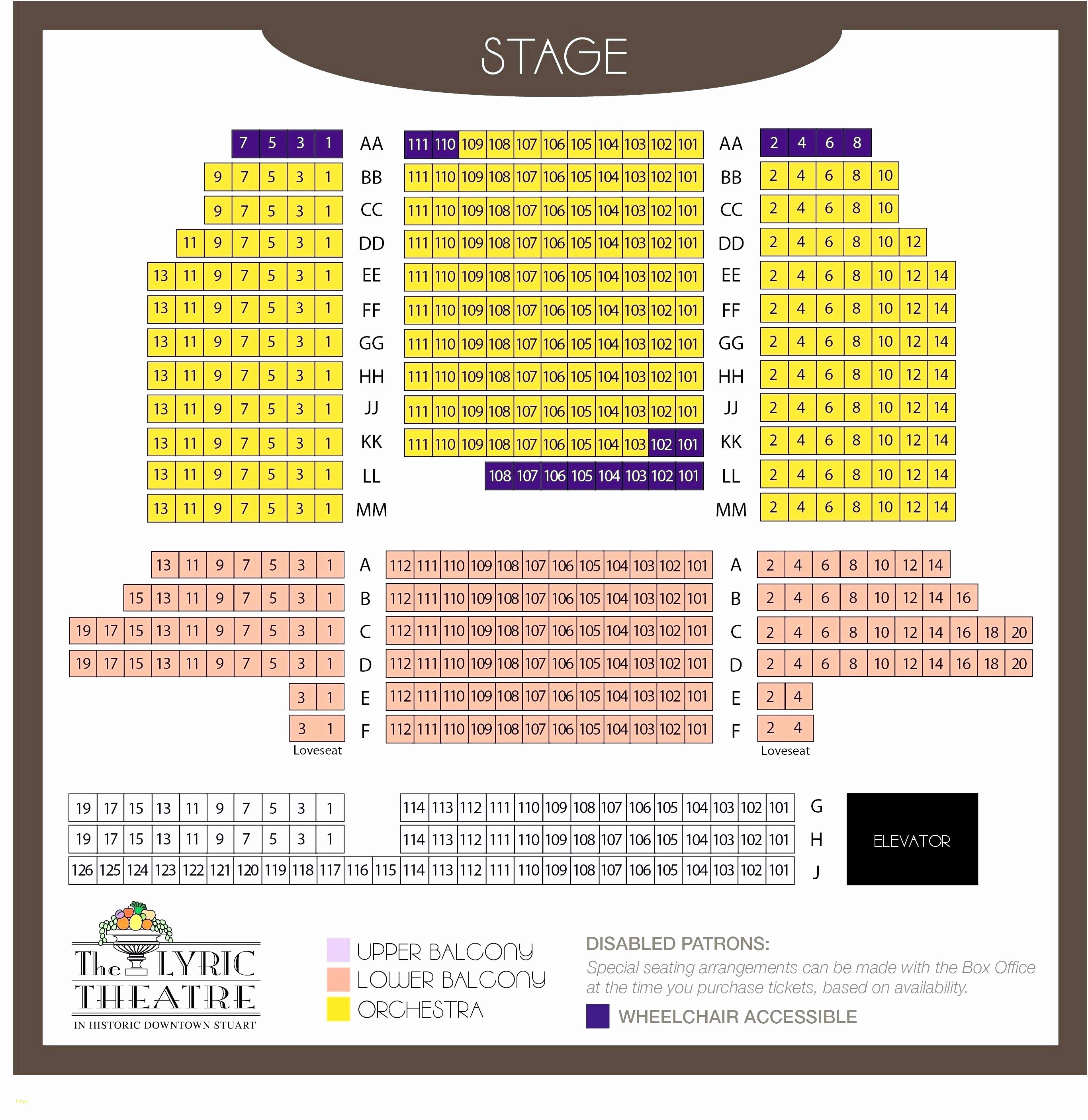 Choir Seating Chart Template Inspirational 35 Elegant Miller Auditorium Seating Chart Models