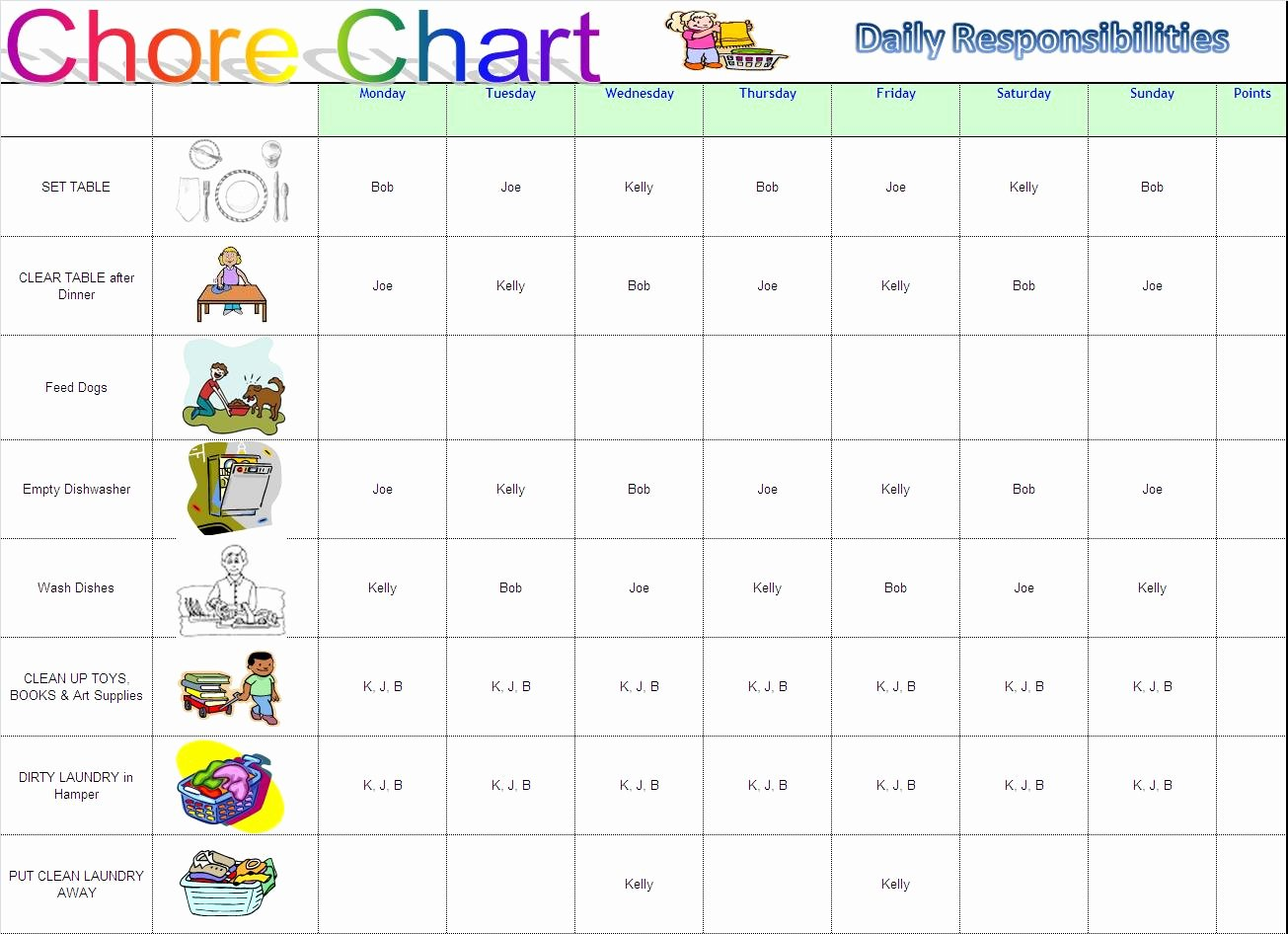 Chore Chart Template Excel Best Of Working Mom Into Supermom Chore Charts