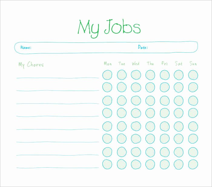 Chore Chart Template Excel Inspirational 22 Chore Chart Template Free Pdf Excel Word formats