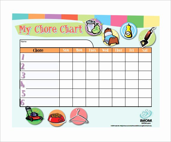 Chore Chart Template Word Inspirational 11 Chore Chart Template Free Sample Example format