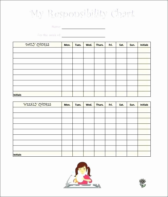 Chore Chart Template Word Inspirational Chore Chart Template Excel – Bluedasher
