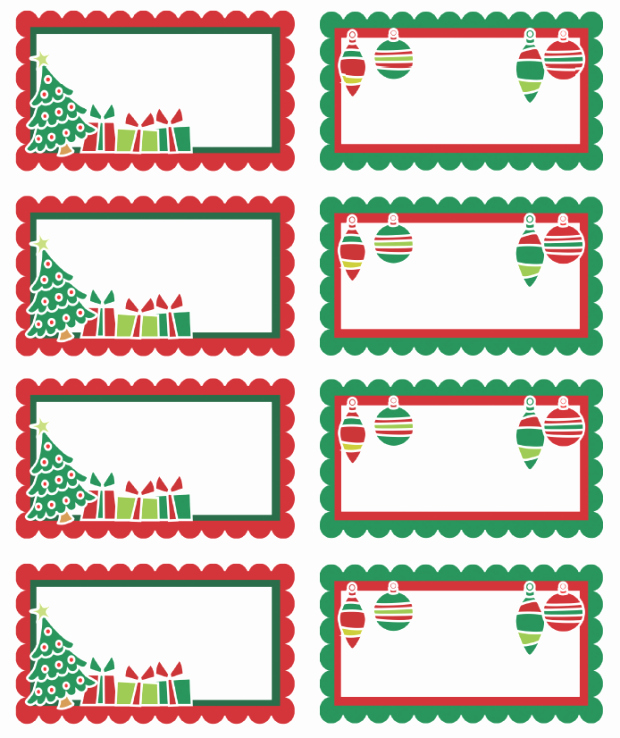 Christmas Address Labels Template Awesome Christmas Labels Ready to Print