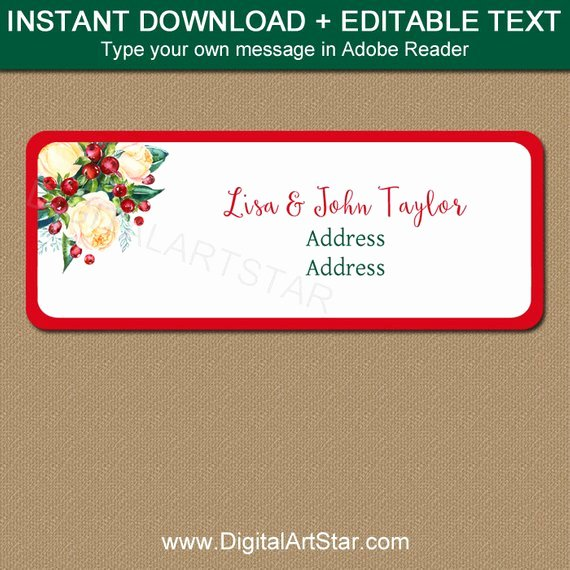 Christmas Address Labels Template Awesome Printable Address Labels Christmas Address Stickers Diy
