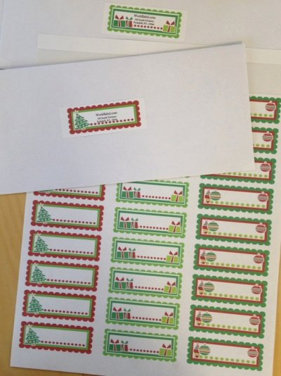 Christmas Address Labels Template Beautiful Christmas Labels Ready to Print