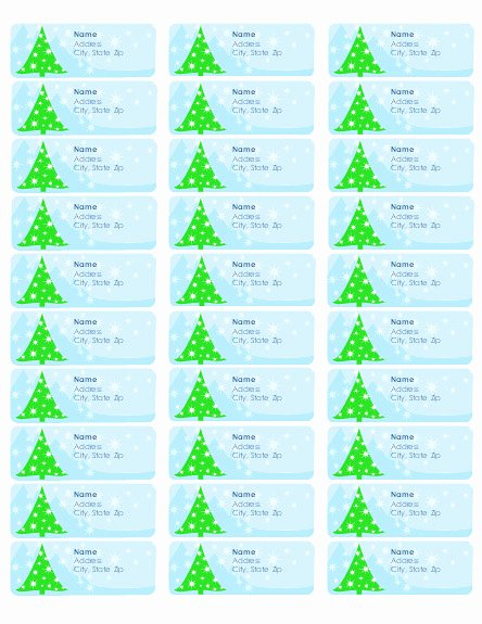 Christmas Address Labels Template Best Of Free Christmas Address Labels Templates – Happy Holidays