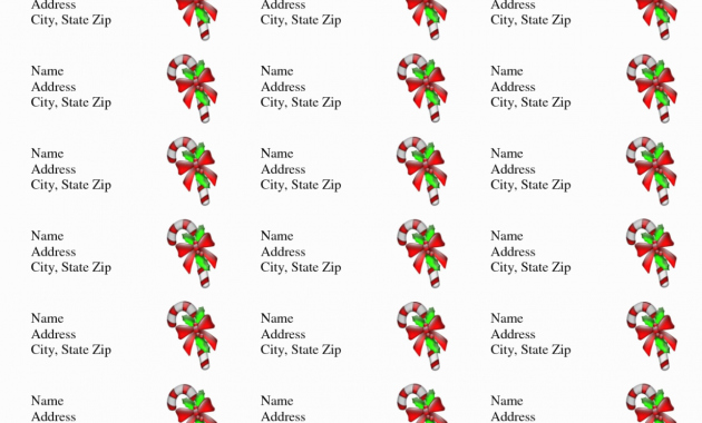 Christmas Address Labels Template Lovely Avery Holiday Label Templates – Hola Klonec – Label Maker