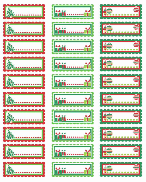 Christmas Address Labels Template Unique Christmas Labels Ready to Print
