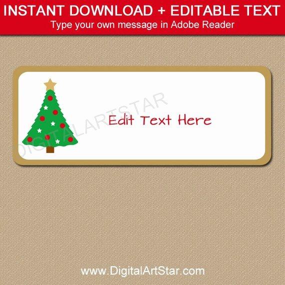 Christmas Address Labels Template Unique Return Address Labels Christmas Address Labels Holiday