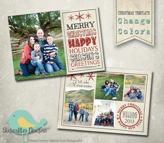 Christmas Card Template Photoshop Beautiful Christmas Card Photoshop Template Family Christmas Card 97
