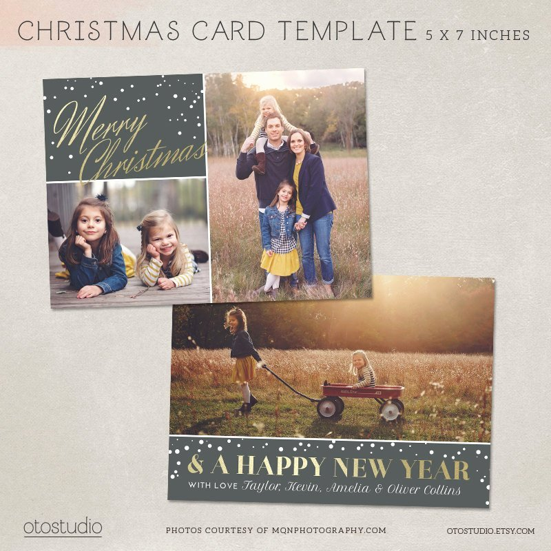 Christmas Card Template Photoshop Beautiful Digital Shop Christmas Card Template for Photographers