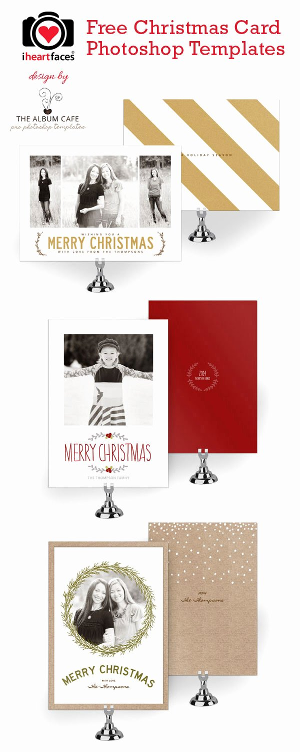 Christmas Card Template Photoshop Elegant 50 Free Holiday Card Templates Moritz Fine Designs