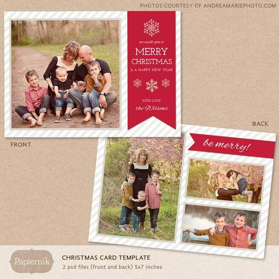 Christmas Card Template Photoshop Elegant Digital Shop Christmas Card Template for Photographers