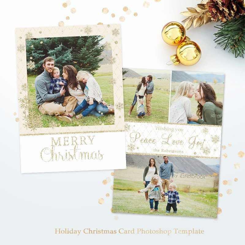 Christmas Card Template Photoshop Elegant Holiday Card Template for Graphers Christmas Shop