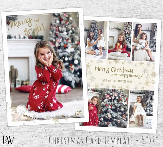 Christmas Card Template Photoshop Fresh Christmas Cards Holiday Postcard Christmas