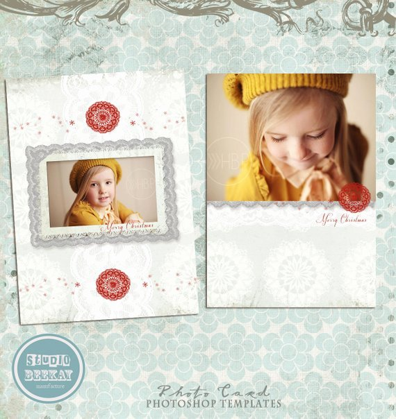 Christmas Card Template Photoshop Inspirational Items Similar to Shop Christmas Card Template for