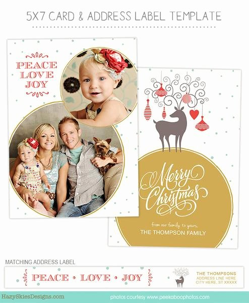 Christmas Card Template Photoshop Lovely Christmas Card Template for Graphers
