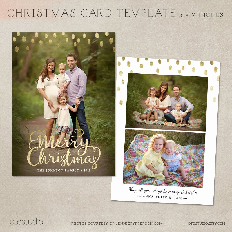 Christmas Card Template Photoshop New Christmas Card Template Shop Template 5x7 Flat Card