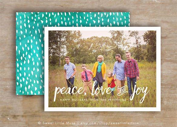 Christmas Card Template Photoshop Unique 150 Christmas Card Templates – Free Psd Eps Vector Ai