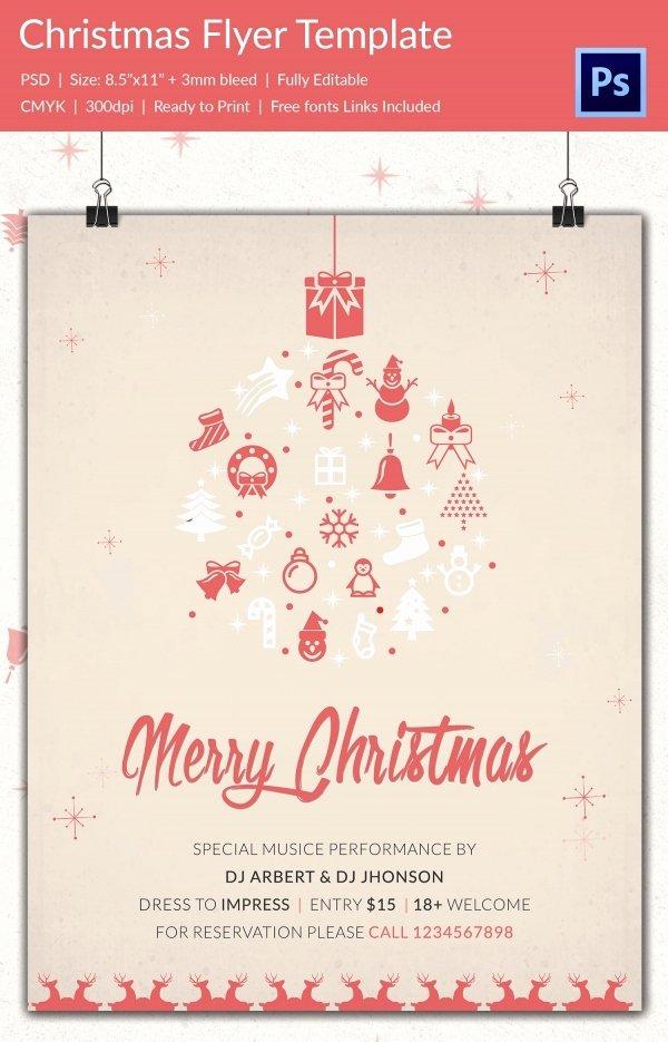 Christmas Flyer Template Free Awesome 60 Christmas Flyer Templates Free Psd Ai Illustrator
