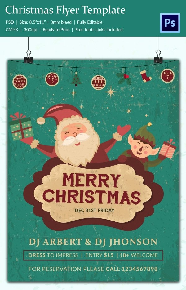 Christmas Flyer Template Free Elegant 60 Christmas Flyer Templates Free Psd Ai Illustrator