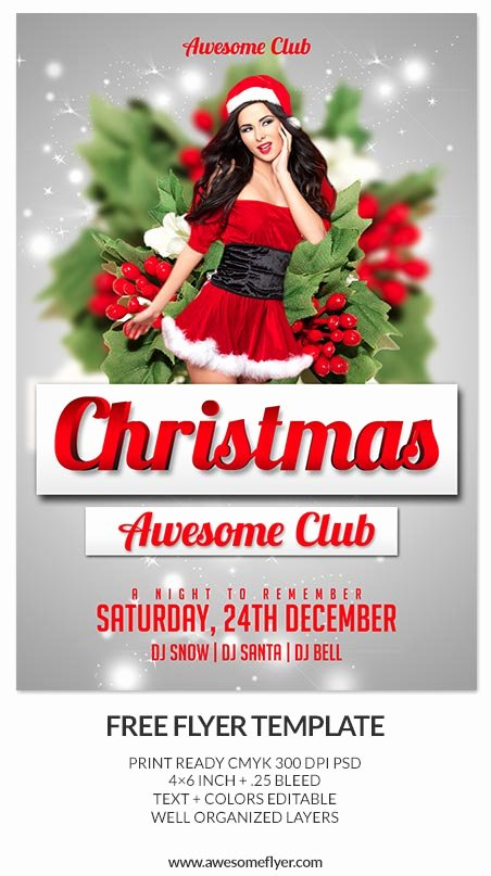 best free christmas flyer templates