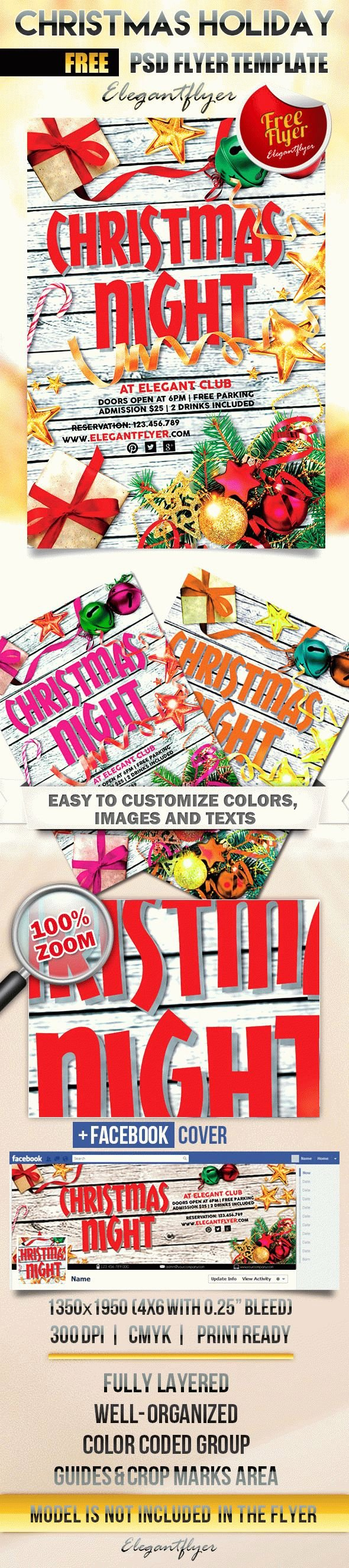 Christmas Flyer Template Free Inspirational Christmas Holiday – Free Flyer Psd Template – by Elegantflyer