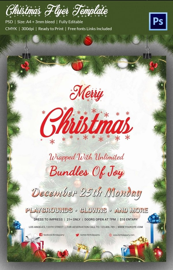 Christmas Flyer Template Free Lovely 60 Christmas Flyer Templates Free Psd Ai Illustrator