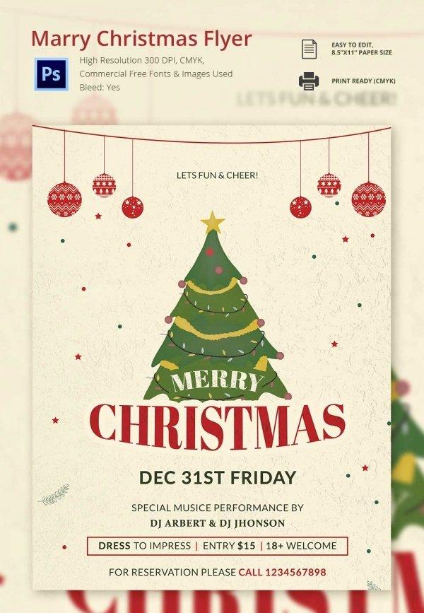 Christmas Flyer Template Free New 60 Christmas Flyer Templates Free Psd Ai Illustrator