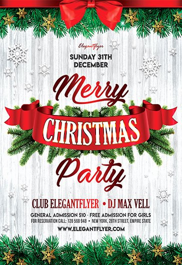 Christmas Flyer Template Free Unique Free Christmas Flyer Templates In Psd