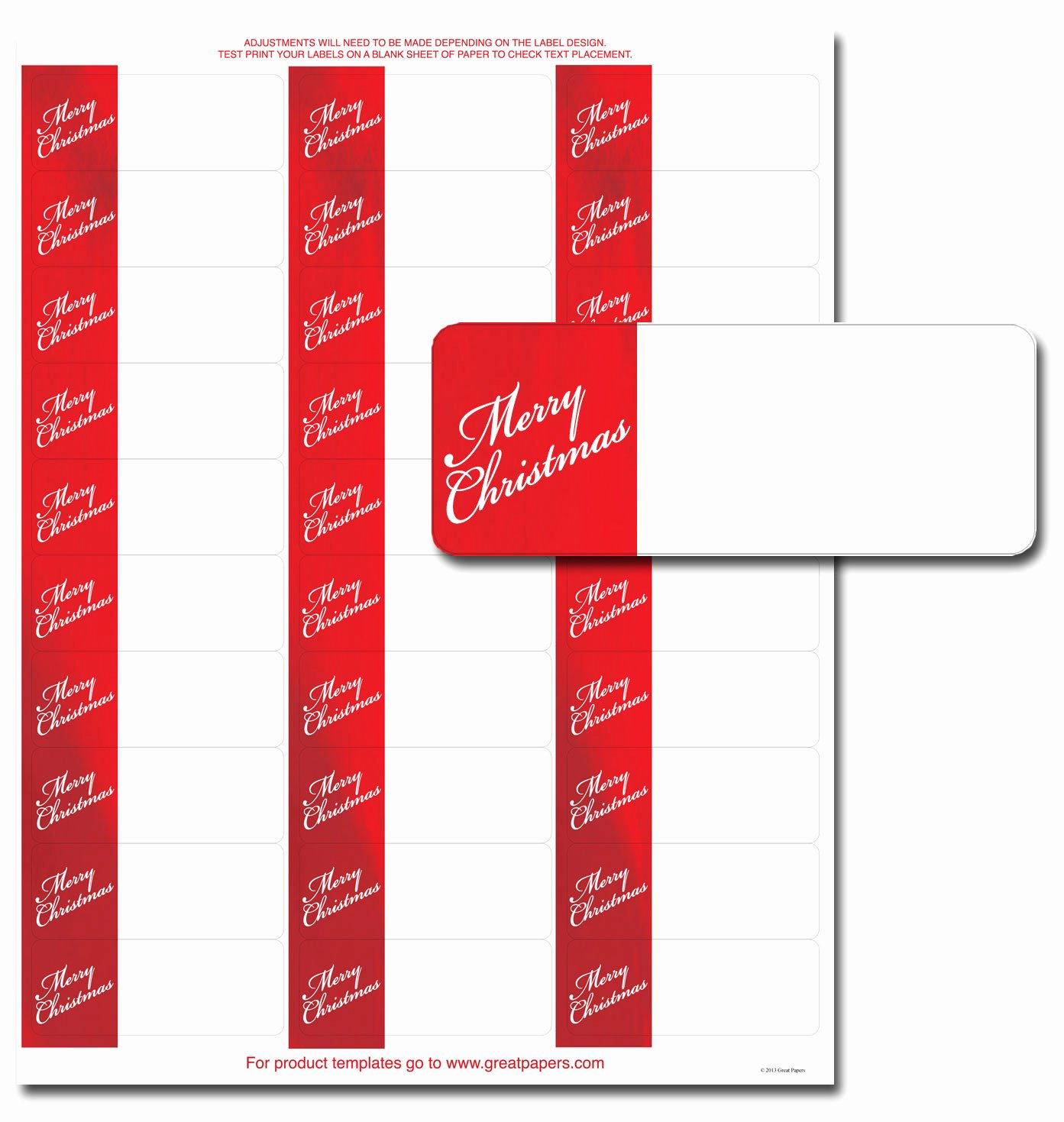 Christmas Mailing Labels Template Awesome Free Christmas Return Address Labels Template