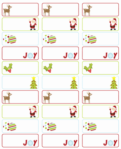 Christmas Mailing Labels Template Best Of Address Labels Free Address Label Templates On Pinterest