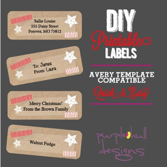Christmas Mailing Labels Template Best Of Christmas Instant Download Return Address