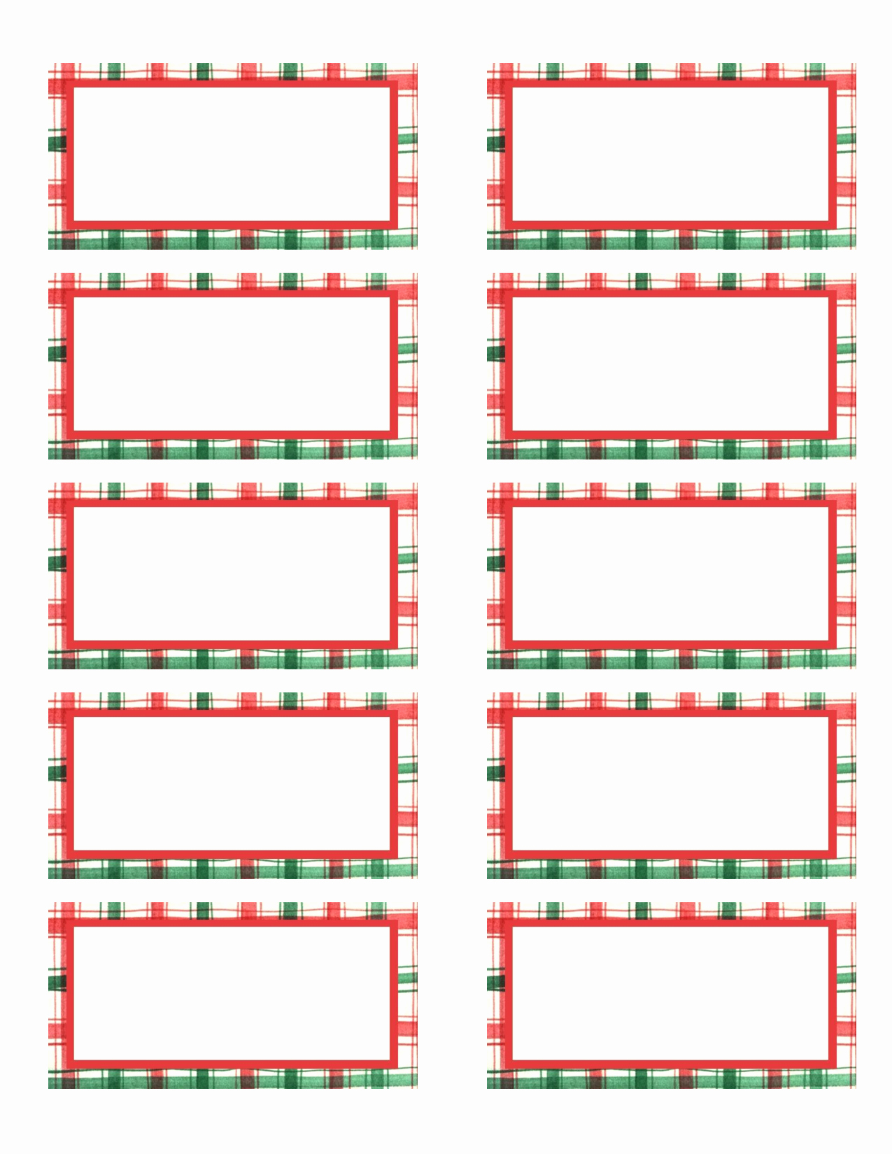 Christmas Mailing Labels Template Unique 7 Best Of Avery Printable Gift Tags Avery
